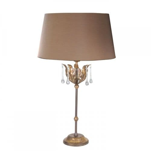 Elstead AML/TL BRONZE Amarilli One Light Table Lamp (includes Shade) Bronze/gold